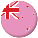 New Zealand Gay Pride Flag Button Badge